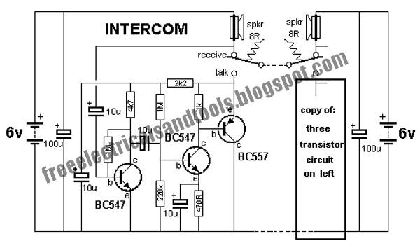 Wiring Free  Intercom Circuit