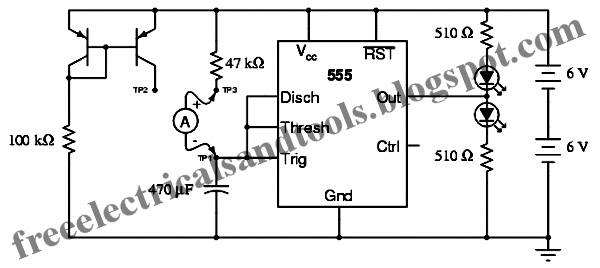 free schematic diagram  555 ramp generator circuit