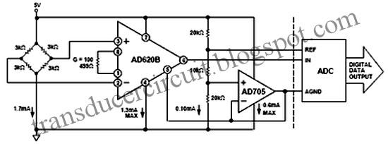 interfacing pressure transducer circuit