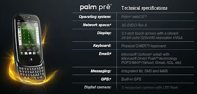 Palm Pre Specifications