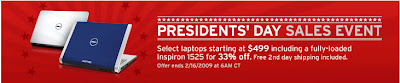 Dell Inspiron 1525 President's Day Sale