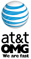 AT&T logo we are fast
