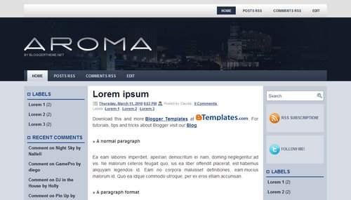 Free Blogger Templates Download: Aroma