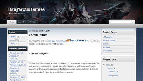 Free Blogger Templates Download: Dangerous Games