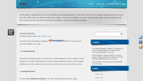 Free Blogger Templates Download: Angel