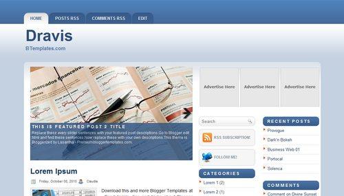 Free Blogger Templates Download: Dravis