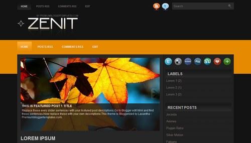 Free Blogger Templates Download: Zenit
