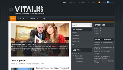 Free Blogger Templates Download: Vitalis