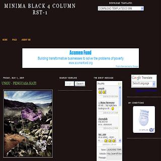 MINIMA BLACK 4 KOLOM RST-1