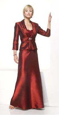 A lovely mother of the bride dress in a great ruby color