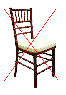 Just say no to the Chiavari chair for weddings.