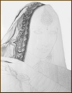 Drawing of Madhuri Dixit