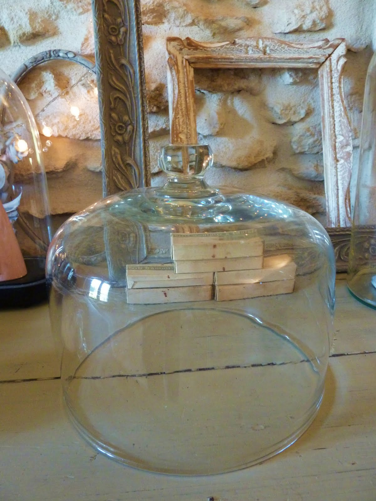 cloche en verre ancienne