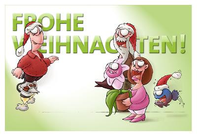 LACHHAFT Cartoons Weihnachten 2007 Erfinder Patentamt Hannibal Piranhas