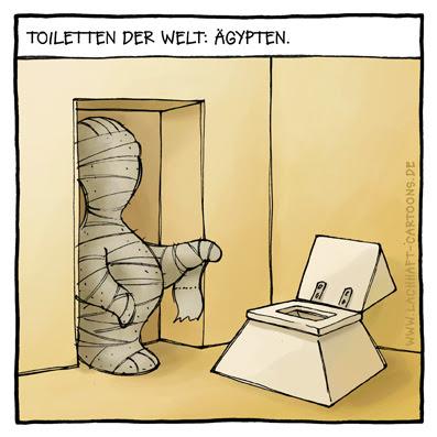 Klowitze Klowitz Toiletten der Welt Klos ägypten Pyramiden Mumien Klopapier Cartoon Cartoons Witze witzig witzige lustige Bildwitze Bilderwitze Comic Zeichnungen lustig Karikatur Karikaturen Illustrationen Michael Mantel lachhaft Spaß Humor