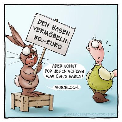 kreativer Hase beschimpfen Beleidigung Demonstration Job Arbeitslosigkeit Cartoon Cartoons Witze witzig witzige lustige Bildwitze Bilderwitze Comic Zeichnungen lustig Karikatur Karikaturen Illustrationen Michael Mantel lachhaft Spaß Humor