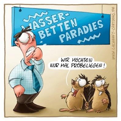 Wasserbett comic  LACHHAFT - Cartoons von Michael Mantel - Wöchentlich neue Witze im ...