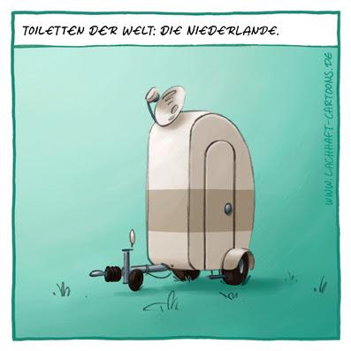 Klowitz Toilettenwitz Toiletten der Welt Niederlande Holland Pinkeln Cartoon Cartoons Witze witzig witzige lustige Bildwitze Bilderwitze Comic Zeichnungen lustig Karikatur Karikaturen Illustrationen Michael Mantel lachhaft Spaß Humor