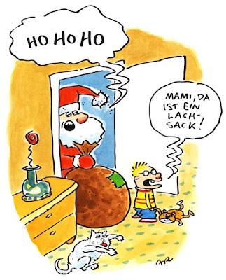 LACHHAFT Adevntskalender Cartoon von Ari Plikat Weihnachtsmann