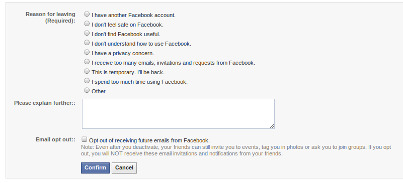 how to delete facebook not deactivate