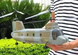 double co-axial tandem rc helicopter