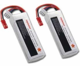 Two Tenergy LiPo 7.4V 900mAh 25C batteries