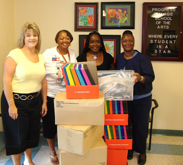 CWAV Donated School Supplies To School