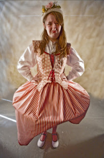 Christy White as Julia in the Nashville Shakespeare's 2007 Shakespeare in the Park production of The Two Gentleman of Verona, directed by Claire Syler. Picture: Jeff Frazier Costume: June Kingsbury