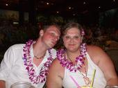 Donovan and I at the Luau