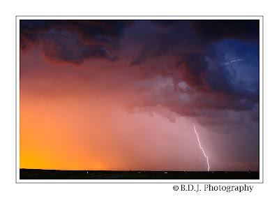 Evening lightning from 6/6/09 storm Benjamin, TX.