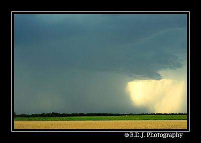 Microburst from 6/6/09 storm Benjamin, TX.
