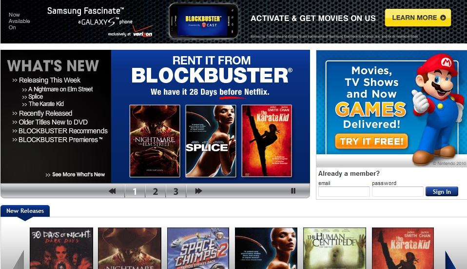 Online Movie Rental - Service, Selection and Delivery