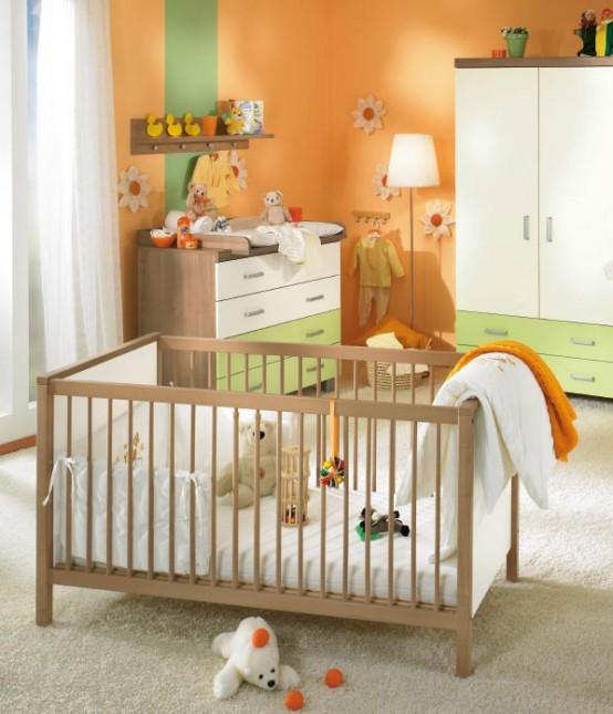 Orange Baby Room Decor