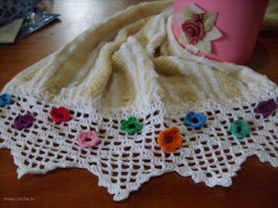 barradinho de crochet