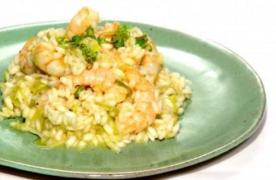 risoto de camarão simples