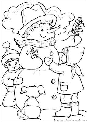 boneco de neve sobre o natal