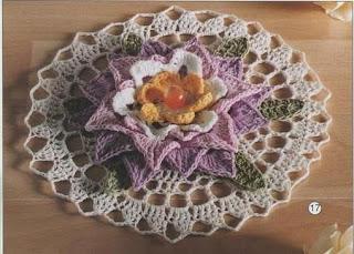 toalha de croche em flor
