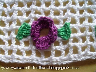 barra para toalha lavabo de crochê