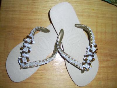 chinelos bordados passo a passo