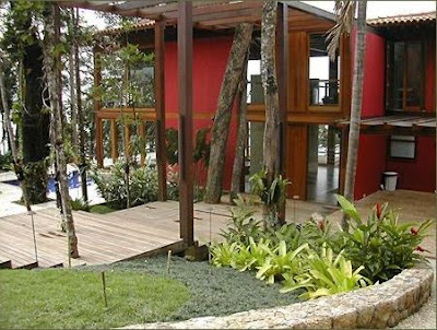 Jardins residenciais rusticos