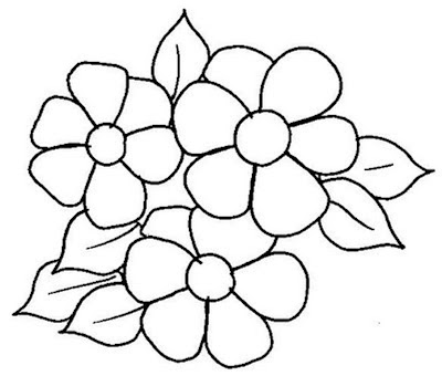 flores para pintar em tecido