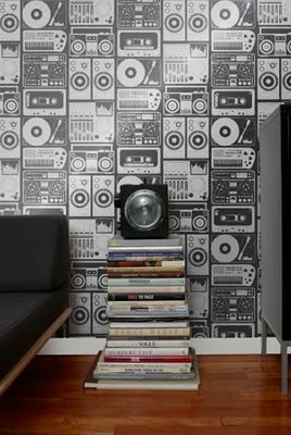 decoração papel de parede para sala