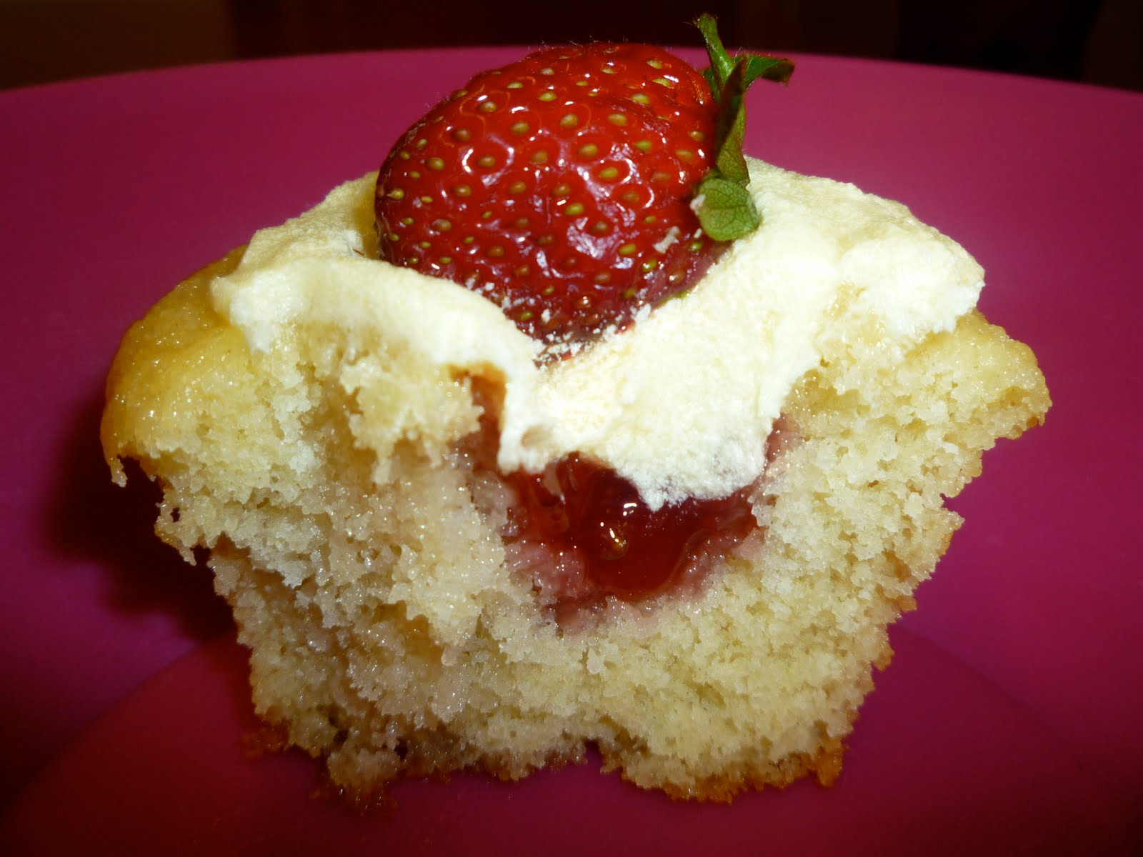 Strawberry Cupcakes With Filling