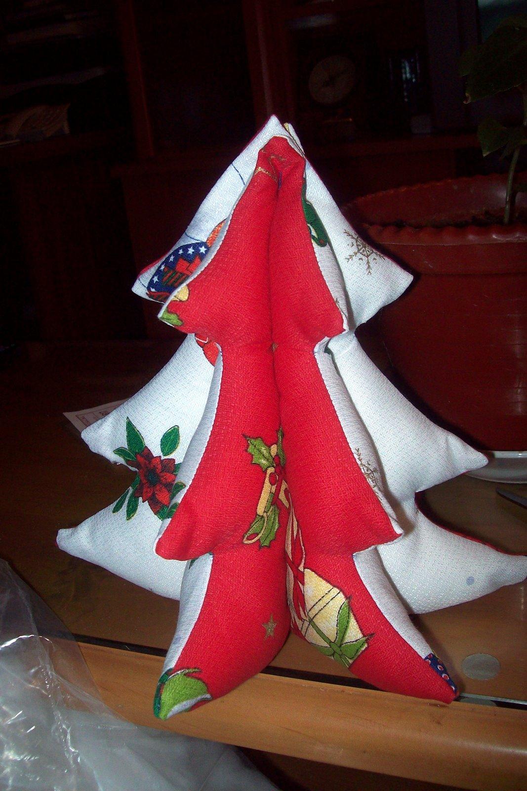 El costurero de mi abuela arbol de navidad de tela - Arbol de navidad de tela ...