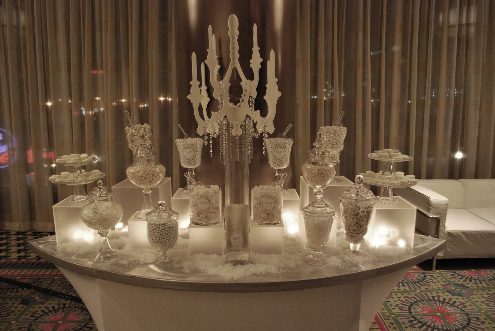 All white candy station nwr chit chat project wedding for All white party decoration