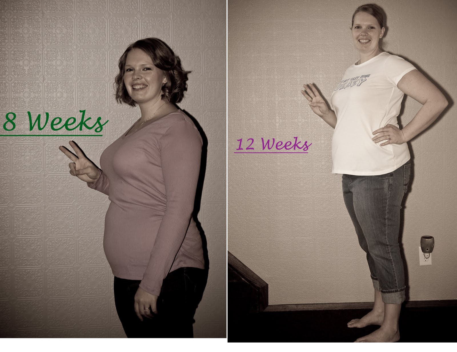 three months pregnant belly
