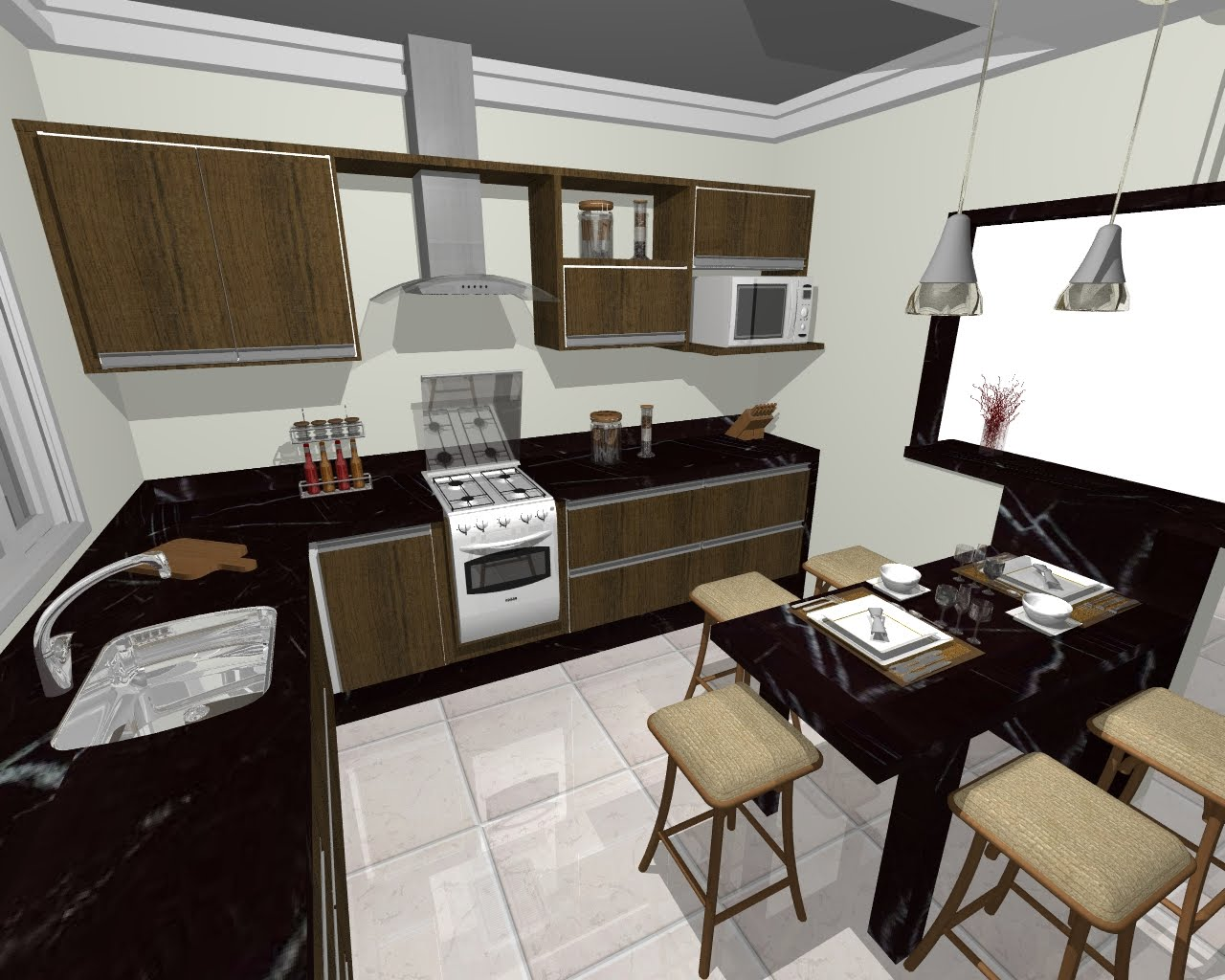 Another Image For Mesas para Cozinha de Granito Fotos e Imagens  #5E4830 1280 1024