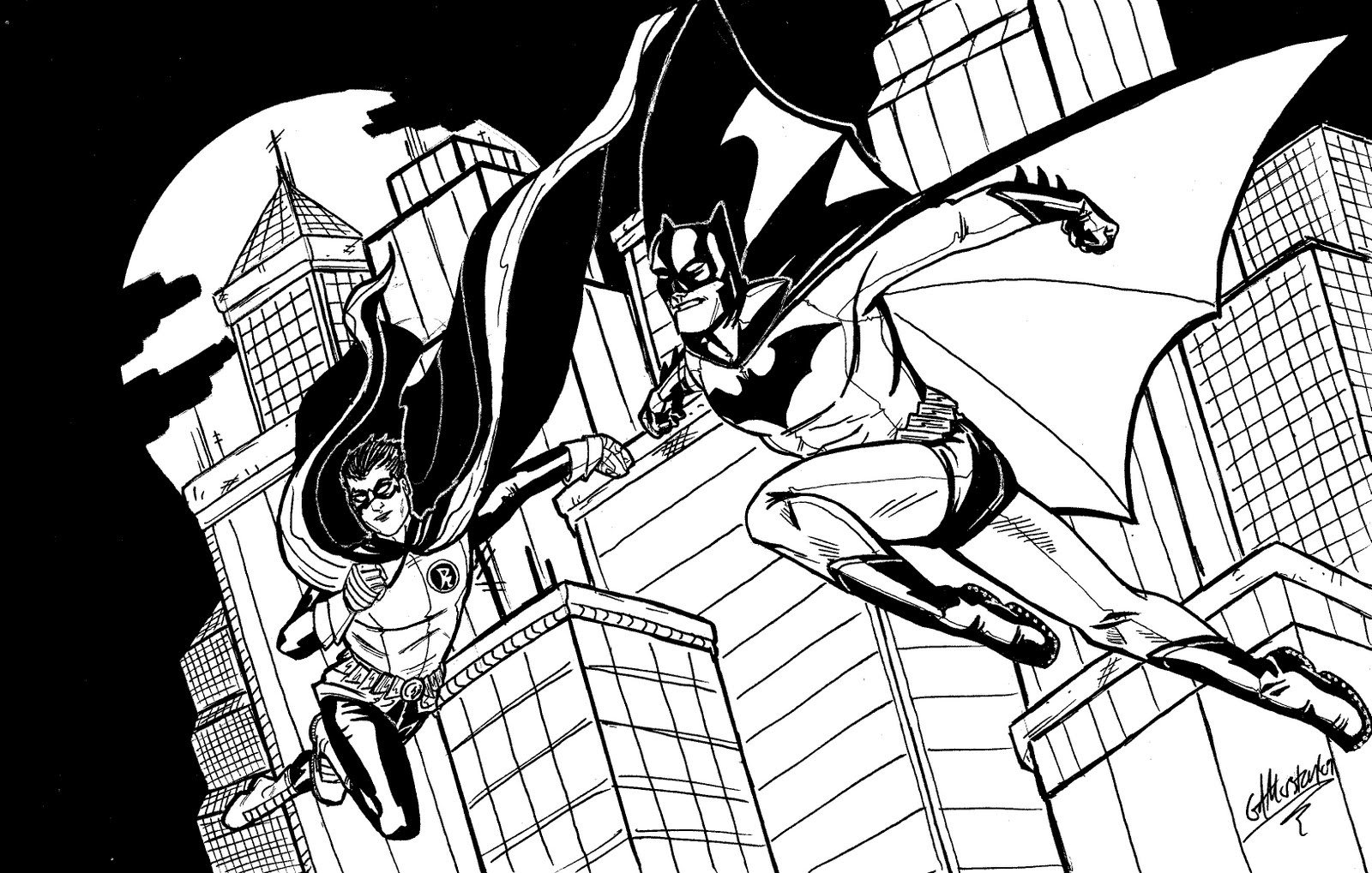 Free batman coloring pages online - If This Be Sketchblog