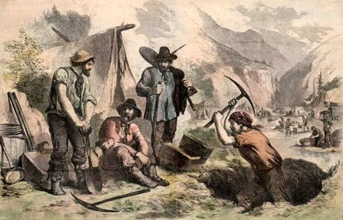 gold rush miners pictures. the California Gold Rush.