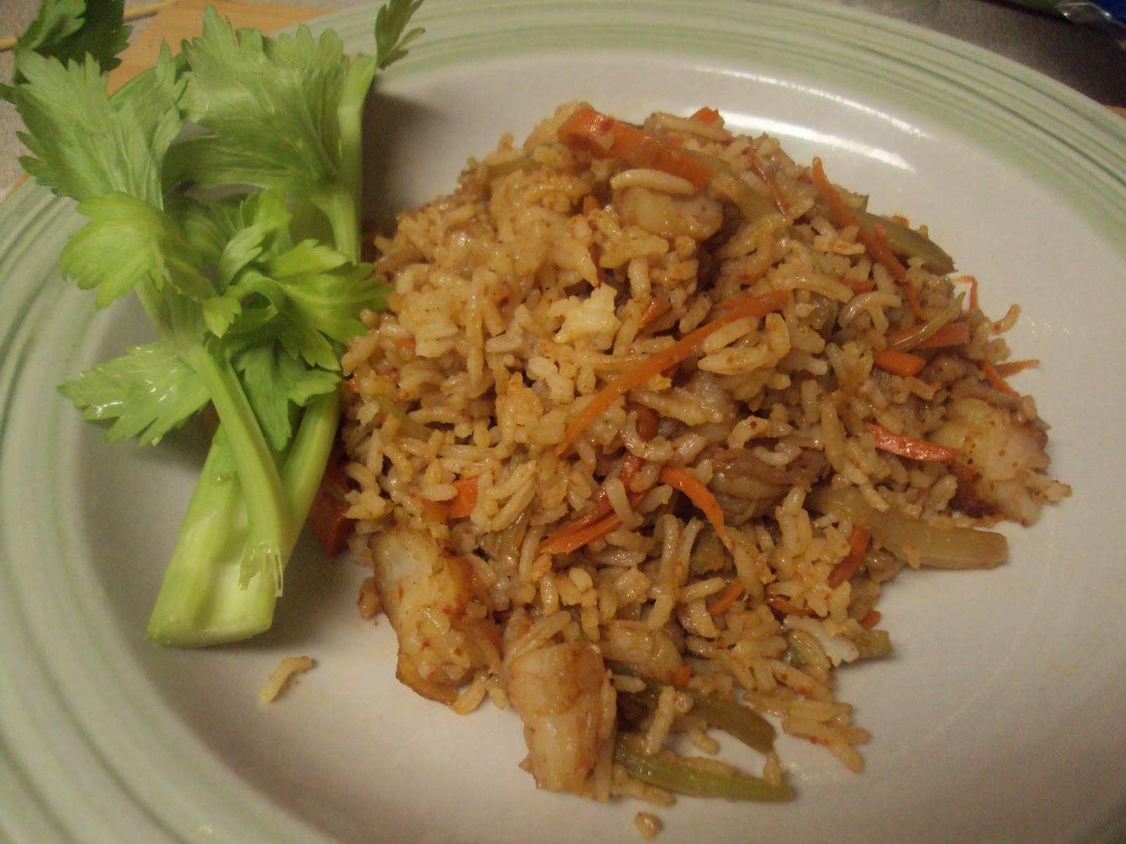 The Muslim Wife's Kitchen: Spicy Shrimp Fried Rice